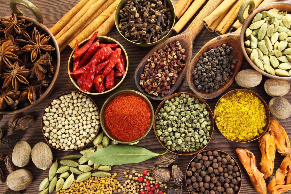 Beneficios para la salud de hierbas y especias