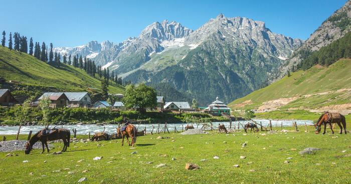 Hermosos Valles de Cachemira